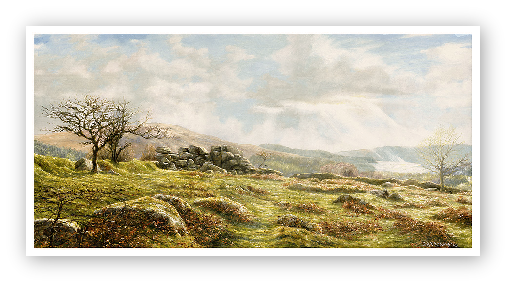 Burrator Panorama, Dartmoor painting