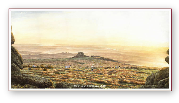 Staple Tors landscape painting by David W Young