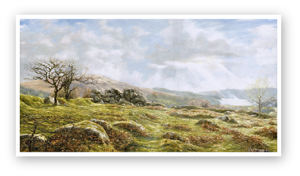 Burrator Panorama, Dartmoor paintings by David William Young