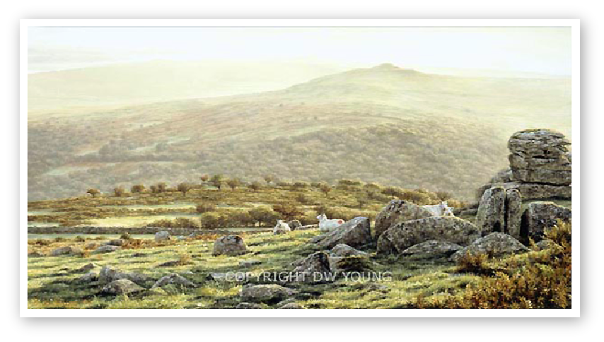 Autumn Dawn, King Tor, Dartmoor print enlargement