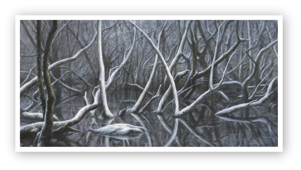 The Winter of my Mind, The Tamar Valley painting