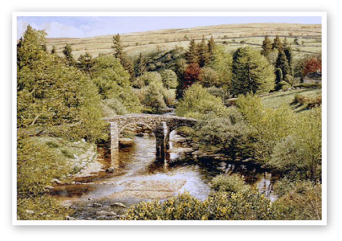 Hexworthy Bridge, Dartmoor print enlargement