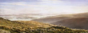 prints valley mists belsone dartmoor david william young paintings