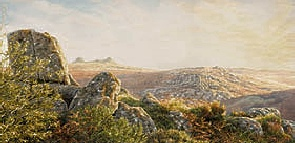 print the three tors  greator hay tor holwell tor paintings dartmoor david young paintings
