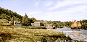 prints the shamrock cotehele quay david young paintings