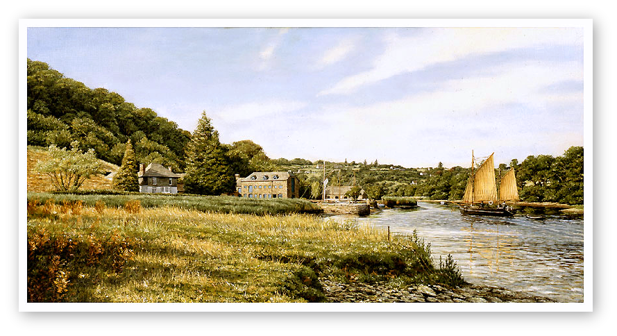 The Shamrock, Cotehele Quay, The River Tamar print enlargement